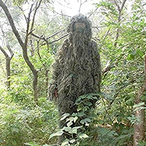 Edealing 1PCS New Ghillie Suit Woodland Camo Chasse Forêt 3D Camouflage