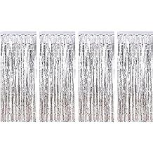 4 darabos fólia függönyök fémes hajlított függönyök csillogó függöny születésnapi esküvő karácsonyi ékszerek