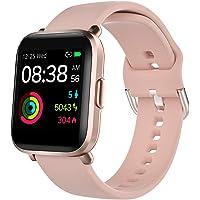 Smartwatch, YONMIG Orologio Fitness Uomo Donna, Smart Watch Touch con Saturimetro(SpO2)/Cardiofrequenzimetro da Polso…