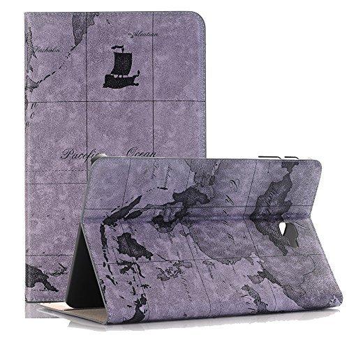 Preisvergleich Produktbild Ledertasche für Galaxy Tab A 10.1 inch, TechCode Premium Leder Wallet Card Case Schutzhülle mit Auto Wake / Sleep und Standfunktion für Samsung Galaxy Tab A 10.1'' SM-T580N / SM-T585N