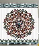 PETGOOD Duschvorhang Indische traditionelle Mandala in Home Decor viele schöne Duschvorhänge zur Auswahl, hochwertige Qualität, Wasserdicht, Anti-Schimmel-Effekt 180 x 180 cm