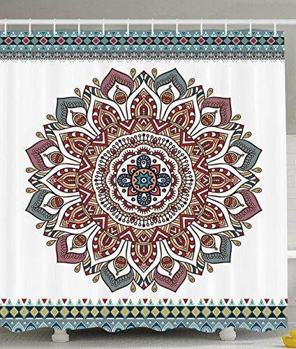 Indische traditionelle Mandala in Home Decor viele schöne Duschvorhänge zur Auswahl, hochwertige Qualität, Wasserdicht, Anti-Schimmel-Effekt 180 x 180 cm (Halloween Schwarze Katze Silhouette Muster)