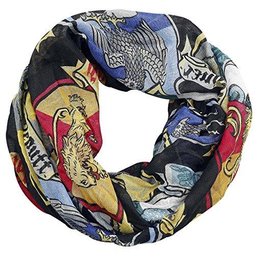 Sciarpa Crest di Harry Potter sciarpa Hogwarts con stemmi della scuola di magia e stregoneria (Scuola Di Hogwarts Serpeverde Casa)
