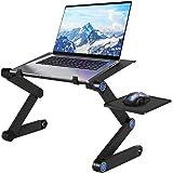 U-Kiss Table de Lit Pliable - Table Pliable en Alliage Aluminium Table de lit Compacte et Légère pour PC Portable, Plateau Su