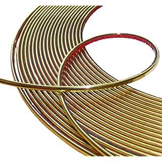 Aerzetix: 6mm 4.5m Stick Klebeband goldene Farbe Gold