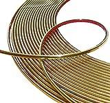 Aerzetix: 6mm 15m Bande baguette adhésive couleur or doré
