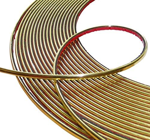 Aerzetix: 4mm 4.5m Stick Klebeband goldene Farbe Gold (4 Stick Mm)