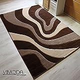 VIMODA Moderne Designer Teppiche Verschiedene Muster in Verschiedenen Farben Lila Rot Grau Schwarz Weiss 80x150 cm