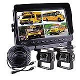 Zhiren - Sistema de cámara de remolque TFT, pantalla LCD de 9 pulgadas, sistema de cámara de visión trasera para camión, furgoneta, caravana, remolques, autobús, RV