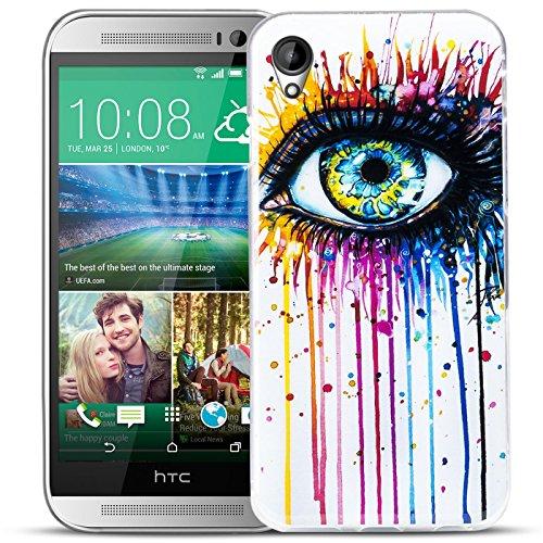 Conie PC5753 Picture Case Kompatibel mit HTC Desire 728G, Rückschale mit Motiven Silikon TPU Backcover für Desire 728G Bumper Motiv Abstract