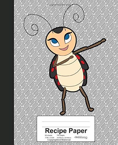 Recipe Paper: Dabbing Ladybird Beetle Ladybug Book (Weezag Recipe Paper Notebook, Band 18)