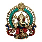 Collectible India Brass Ganesha Idol - S...