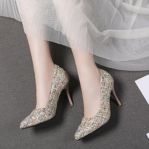 MissSaSa Donna Scarpe Classico e Elegante albicocche