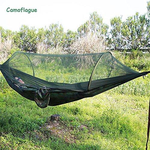 XHL Art Tragbare Outdoor Camping Hängematte mit Moskitonetz Parachute Stoff Hängematten Betten...