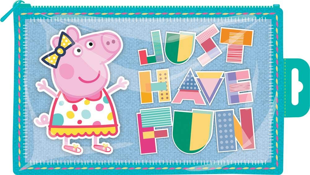Peppa Pig Brillante Plástico Estuche 'Just Have Fun'