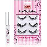 CALAILIS 3 Pairs False Eyelash| 3D Faux Mink Fake Eyelash| Lightweight| Reusable| Easy to Apply| 100% Handmade| Cruelty…