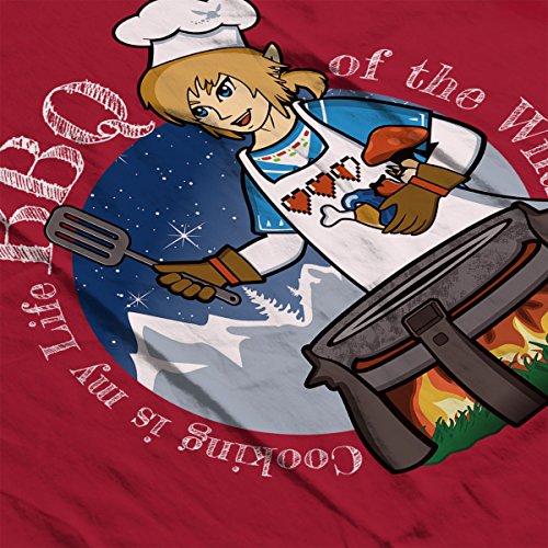 Legend of Zelda Breath of The Wild Links BBQ Women's Hooded Sweatshirt Cherry Red
