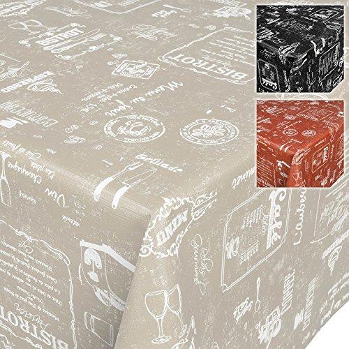 Wachstuchtischdecke Wachstuch Wachstischdecke Tischdecke abwaschbar Beige Modern Retro Indutrie Cafe 120 x 140cm