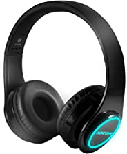 Adcom Luminosa - Wireless Bluetooth Over-Ear Stereo Headphone with Minimalist LEDs Lights, Passive Noise Cancellation, Built