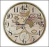 Mappa del mondo 60cm diametro Orologio da parete