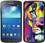 Cool Lion Schwarz für Samsung Galaxy S4Active Handy Fall