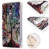 LaiXin Case Cover Cáscara per LG K7 smartphone TPU Premium Protezione Anti Scivolo Ammortizzante Glitter Sparkle Cristallo Diamanti-albero dipinto