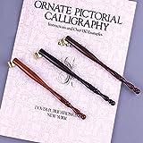Dip Stift Federhalter Holz Oblique Zeichenfeder 1Stück(Farbe Zufällig)