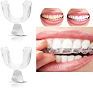 2pcs Teeth Whitening Trays Moldable Transparent Silicone Thermoforming Dental Mouthguard Whitener Mouth Care