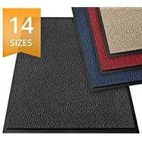 etm Dirt Trapper Door Mat - Barrier Mat | Indoor and Outdoor Mats for Front Door | Super Absorbent & Non-Slip Doormats | Anthracite/Mottled - 60x90cm