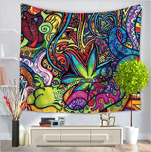 COCOL Tapicería/Estilo asiático suroriental tapicería casera/Pared / Toalla de Playa/Alfombra / Fibra de poliéster (Color : B, tamaño : 150 * 130 cm)
