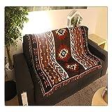 "Tapiz tejido manta alfombra manta geométrico azteca Navajo Tribal nativo americano afganos 50""x60"""