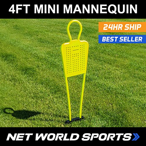Net World Sports FORZA 4ft Free-Kick Mini-Mannequins  For Kids  - Pack Of 3