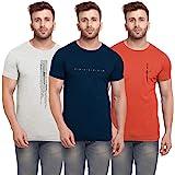 BULLMER Men's Slim Fit T-Shirt (Pack of 3)