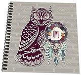 3dRose db_221974_3 Native American Zodiac for November 23 to December 21 Purple Owl Mini Notepad, 4
