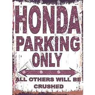 Honda de parking Sign Petite 15 x 20 cm rétro Boîte Style vintage Décoration murale Abri Atelier Garage Classic Cars