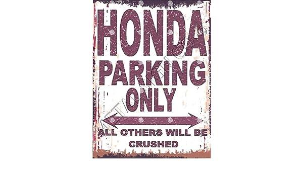 HONDA  METAL PARKING SIGN RETRO VINTAGE STYLE car  shed garage workshop