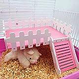 Plateforme en bois pour cage à hamster, gerbille, cochon d'Inde, rat, souris, chinchilla, écureuil