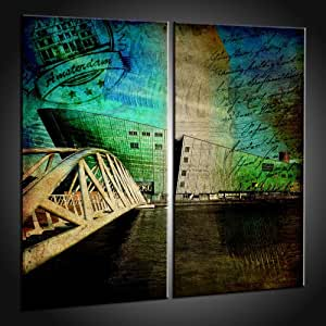 Art à Amsterdam Art Store Photos in 100x100 cm