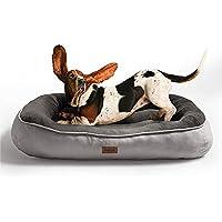 Bedsure Cuccia per Cane da Interno Piccola e Media Taglia 81 x 58 x 15 cm Grigio - Lettino per Cani Super Morbida in…