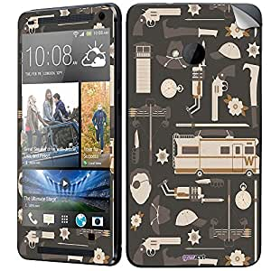 GsmKart HM7 Mobile Skin for HTC One M7 (Black, One M7-878)