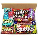 Heavenly Sweets - Mini Coffret Cadeau Américain Bonbons/Chocolat/Wonka/Nerds Cadeau Noël/Anniversaire - Boîte Carton Blanc