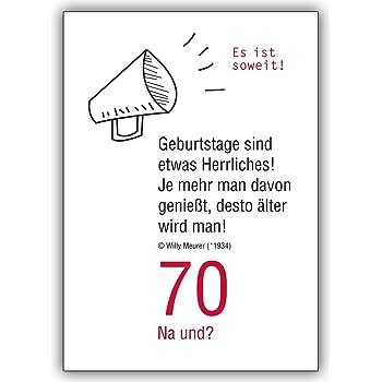 1 Geburtstagskarte 70 Na Und Lustige Geburtstagskarte Zum 70