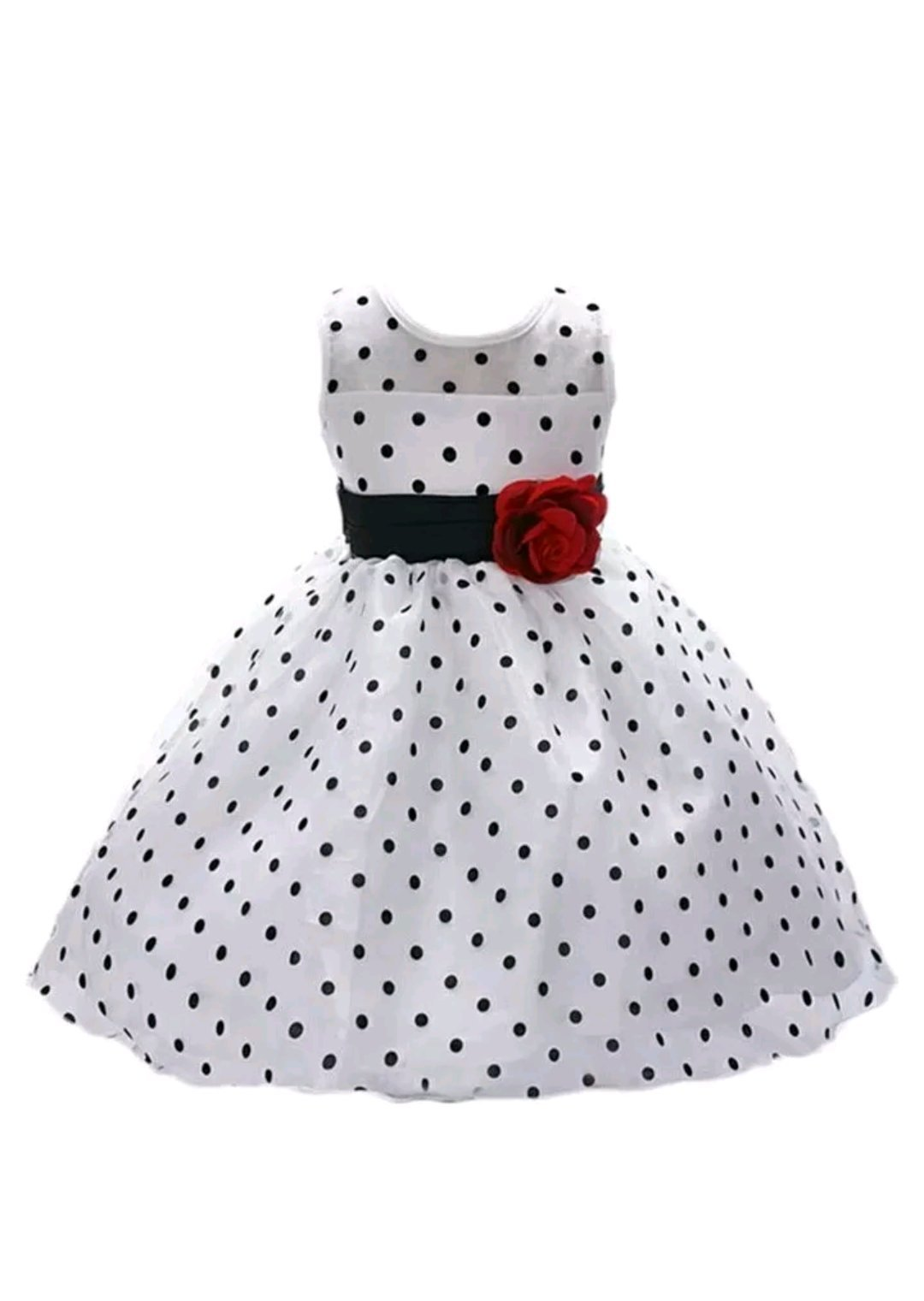 372dbfd4 A P Boutique Baby Girl Frock Party Dresses Birthday Outfits Black White  Polka Dot Dress