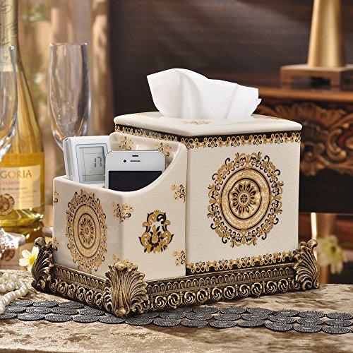 GBZLL Kreative Heimat kontinentalen Gewebe Abendkasse Multifunktions keramische Ablage Box Gewebe Aufbewahrungsbox