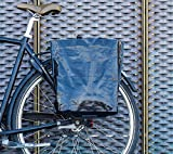 BIKEZAC® Clip-On EINKAUFS-FAHRRADTASCHE | Einseitige Einkaufstasche | Gepäckträgertasche | Faltbar | Wasserabweisend | Trageschlaufen | Ökologisch, BikeZac:Black Plain