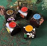 SHDT Bougeoir en Bois Creative Bois Peint à la Main Décorations en Chandelier en Fleur sans Manche de Cuisine, c