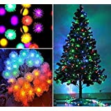 Rich E Snow Balls 10M Decorative Multi-Color Light For Diwali, Christmas Light,Christmas Tree, Wedding, Party Event (Made In India)