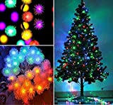 #8: RICH e Snow Balls 10M Decorative Multi-color Light for Diwali, Christmas light ,Christmas tree, Wedding, Party Event (Made in India)