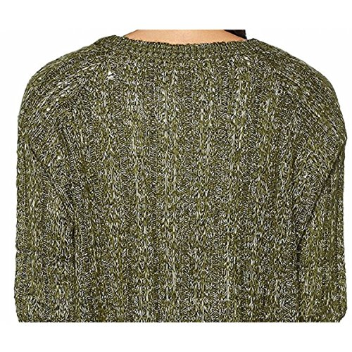 VERO MODA Damen Pullover Vmamanda Jive Ls Boatneck Blouse Boo Green Gables