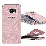 Urcover Glitzer-Folie zum Aufkleben | Samsung Galaxy S7 Edge | Folie in Rosa | Zubehör Glitzerhülle Handyskin Diamond Funkeln Schutzfolie Handy-schutz Luxus Bling Glamourös